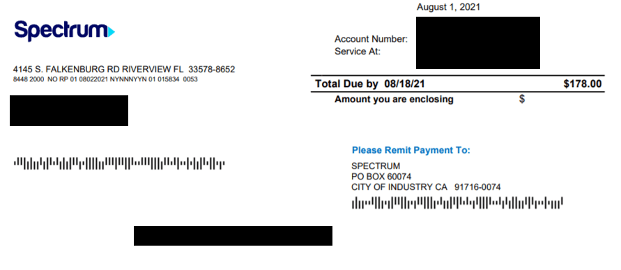 Spectrum Bill Pay For Check